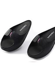 Women's Slippers & Flip-Flops Comfort PVC Summer Casual Comfort Black 2in-2 3/4in