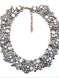 Women's Collar Necklace Aquamarine Ruby Multi-stone Crystal Cubic Zirconia Imitation Diamond Circle Round Crystal Imitation Diamond Zircon