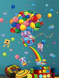Животные Цветочные мотивы/ботанический Наклейки Простые наклейки Декоративные наклейки на стены материал Украшение дома Наклейка на стену