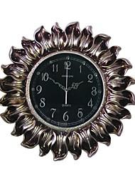 Модерн Традиционный Деревенский Повседневный Ретро Цветы Религиозные и Вдохновляющие Настенные часы,Круглый Часы Резина В помещении Часы