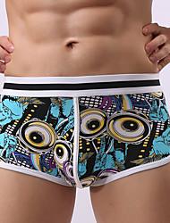 Men's Sexy Print Boxers Underwear,Cotton
