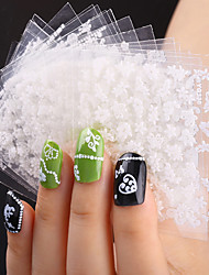 20pcs Beautiful White Flowers 3D Nail Decals