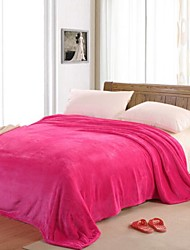 Coral fleece Solid Cotton Blend Blankets