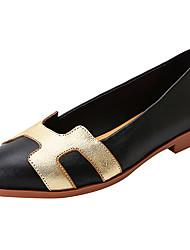 Для женщин Мокасины и Свитер Балетки Светодиодные подошвы Удобная обувь Натуральная кожа Наппа Leather Весна Лето ПовседневныеКомбинация