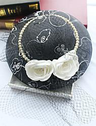 Tulle Imitation Pearl Silk Net Headpiece-Wedding Special Occasion Birthday Party/ Evening Fascinators Hats 1 Piece