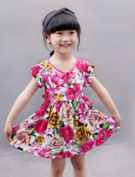 Girl's Floral Print Dress,Others Summer