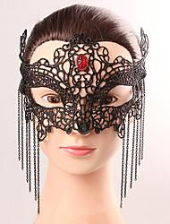 Noir masque sexy dentelle halloween fête fantaisie dentelle femme manteau masque de cristal masque de lingerie masque partie