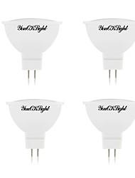 5W Spot LED 10 SMD 5730 400 lm Blanc Chaud Blanc Froid DC 12 AC 12 V 4 pièces MR16