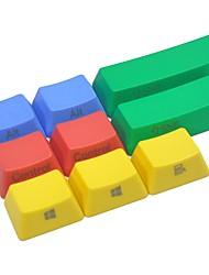 9 touches pbt set de touches coloré pour clavier mécanique imprimé
