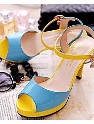 Damen Schuhe Echtes Leder PU Sommer Komfort Pumps High Heels Für Normal Schwarz Blau Rosa