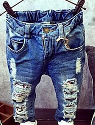 Girls' Solid Jeans Spring Fall