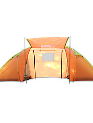 3-4 persons Tent Double Fold Tent One Room Camping Tent >3000mm Glass fiber Terylene Waterproof Quick Dry Rain-Proof Dust Proof Foldable-