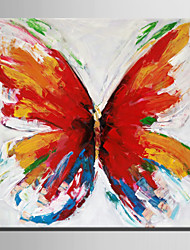 Mini Size E-HOME Oil painting Modern Colorful Butterfly Pure Hand Draw Frameless Decorative Painting