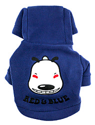 Dog Hoodie Dog Clothes Casual/Daily Animal Blue Green Ruby