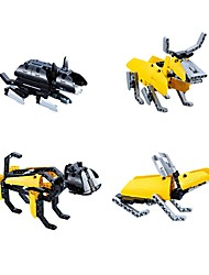 DIY KIT Building Blocks Educational Toy For Gift  Building BlocksRabbit Chicken Snake Dog Pig Dragon Mouse Bull Horse Sheep Monkey