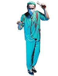 Costumes de Cosplay Pour Halloween Squelette/Crâne Zombie Cosplay Fête / Célébration Déguisement d'Halloween Rétro Haut Pantalon Chapeau
