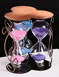 The Plum Flower Bubble Three Hourglass Glass Handicraft Copper Art Hourglass Contracted