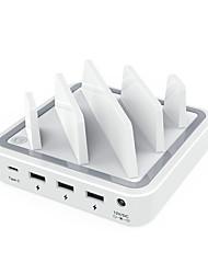 Chargeur USB 4 ports Station de chargeur de bureau Avec interrupteur (s) Stand Dock Adaptateur de charge