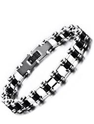 Men's Chain Bracelet Jewelry Punk Costume Jewelry Silica Gel Stainless steel Round Jewelry For Office/Career Dailywear