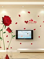 Цветочные мотивы/ботанический Мультипликация Романтика Наклейки Простые наклейки Декоративные наклейки на стены Свадебные наклейки