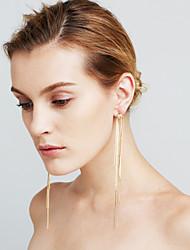 Femme Boucles d'oreilles Imitation de diamant Cœur Sexy Mode euroaméricains Bijoux Movie Cuivre Forme de Ligne Bijoux PourMariage Soirée