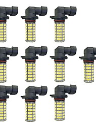 4w 9005 9006 h8 h11 120smd2835 phare / lampe antibrouillard pour voiture dc12v blanc 10pcs