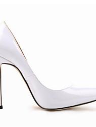 Damen High Heels Pumps Echtes Leder PU Frühling Sommer Normal Weiß Schwarz Rot Rosa 5 - 7 cm