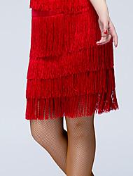 Baile Latino Pantalones y Faldas Mujer Actuación Seda Sintética 1 Pieza Cintura Media Faldas