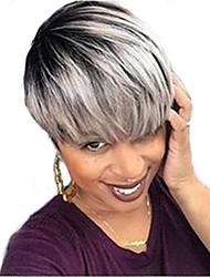 Освежающие натуральные короткие волосы человеческие волосы парики для женщин