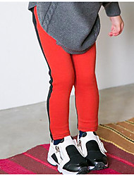 Pantaloni Da ragazza Cotone Monocolore Primavera