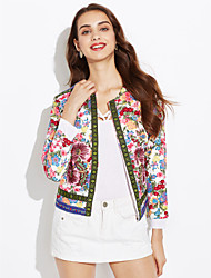 Women's Fashion Embroidered Flowers Cardigan Outwear