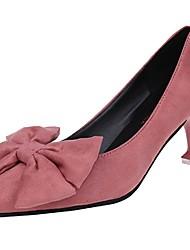 Damen High Heels Komfort Sommer Kaschmir Kleid Schleife Stöckelabsatz Schwarz Gelb Rosa 7,5 - 9,5 cm