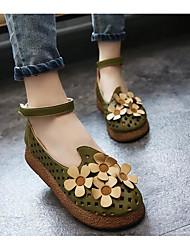 Women's Sandals Comfort PU Summer Casual Comfort Green Coffee Flat