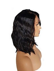 Side Part Suitable For Dark Skin Color Glueless Conveniently Wearing Full Lace Human Hair Wigs Deep Wave