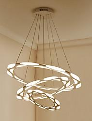 Lampadario postmoderno nordico ha condotto la moda semplici arte creativa carattere lampada da sala da pranzo lampada circolare chiara di