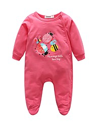 Baby Animal print One-Pieces,Cotton Spring/Fall Long Sleeve