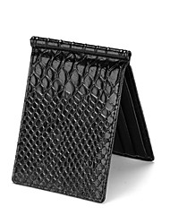 Men Money Clip PU All Seasons Office/Career Shopping Daily Casual Formal Rectangle Open Back Light Black Black
