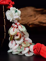 Diy pendentifs automobiles décoratifs boucle sécurisée style chinois pendentif pendentif auspicious&Ornements jade