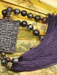 Diy pendentifs automobiles style chinois noeud chinois bouddha perles pendentif voiture&Ornements boisés