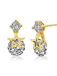 Mulheres Brincos Curtos Diamante Gema Preto Natural Circular Original Pingente Circulo Personalizado Clássico ModaFormato Circular Forma