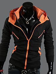 Sweat à capuche Homme Sports Décontracté / Quotidien Sortie Chic de Rue Couleur Pleine Micro-élastique Coton Polyester Manches longues