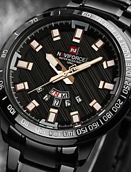 Watch Men Luxury Brand Men Stainless Steel Gold Watch Men's Quartz Clock Man Sports Waterproof LED Digital Wrist Watches relogio masculino Gift Tool