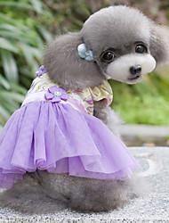 Cachorro Vestidos Roupas para Cães Fashion Natureza Roxo Vermelho Azul Claro