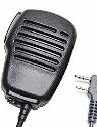 Imperméable à l'eau à cristaux liquides à 2 broches épaule à distance microphone micro ptt pour kenwood wouxun puxing baofeng radio