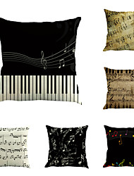 6 pçs Algodão/Linho Inovador Moderno Música Vintage Musico Retro Neoclassicismo Legal Nova chegada Alta qualidade Modern