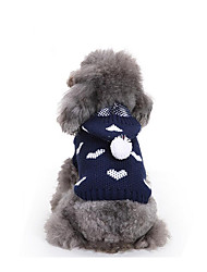Dog Sweater Hoodie Dog Clothes Casual/Daily Hearts