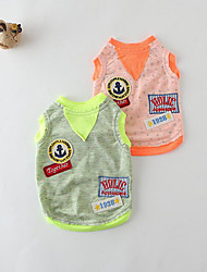Dog Vest Dog Clothes Casual/Daily Color Block Green Orange