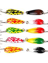 """10 pçs Ganchos de Pesca Iscas Colheres Isco de Metal g/Onça,45 mm/1-3/4"""" polegada,Cobre Liga Pesca de Mar Pesca Voadora Isco de Arremesso"""