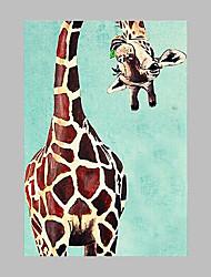 Ручная роспись Животное Художественный Модерн 1 панель Холст Hang-роспись маслом For Украшение дома