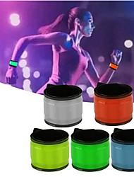 brazalete brillante de la fiesta las luces llevadas flash wristband que funcionaba engranaje que brillaba color del ramdon